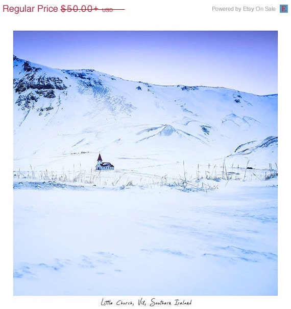 SALE Winter Wonderland - Winter Photography - Iceland  - Limited Edition Giclee - Very large wall decor - CrionnaPhotography