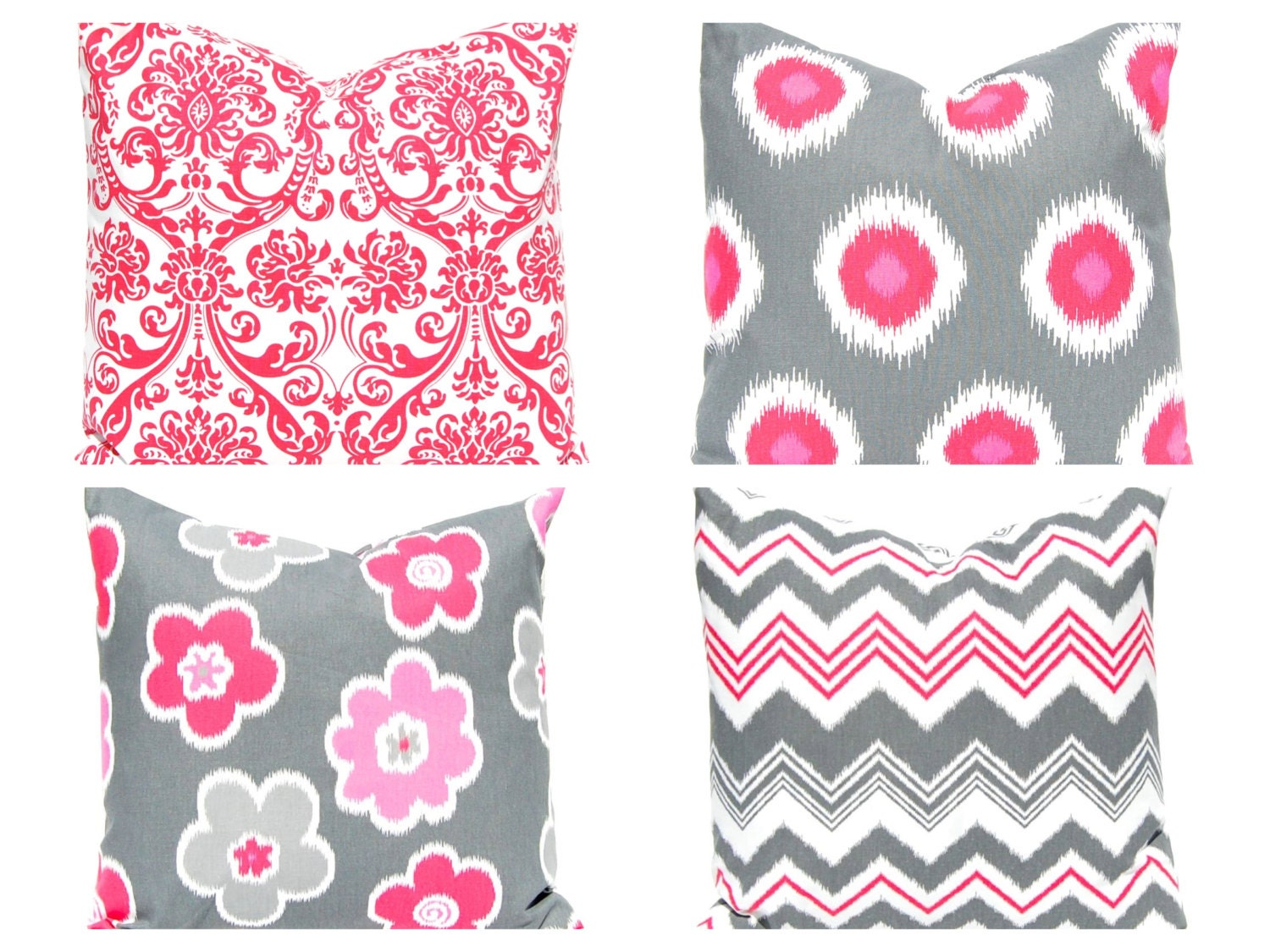 Pink pillow shams