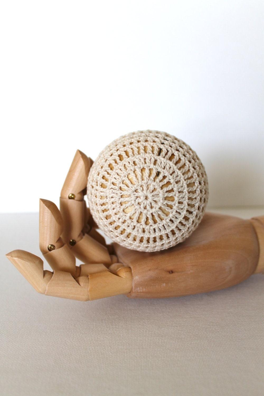 Ручной мяч вязания Bowl Filler Home Decor Один из стиля Vintage вид искусства Fibre скульптуры