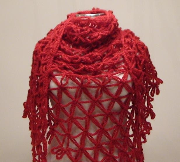 Red Anatolia Mohair Shawl