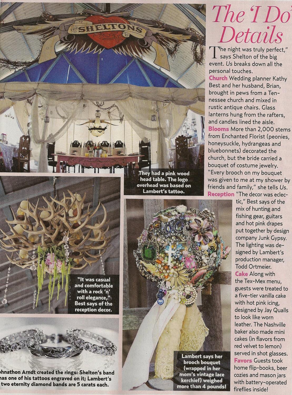 Miranda Lambert Vintage Brooch Bouquet - Featured in Us Weekly - Brooch Shower