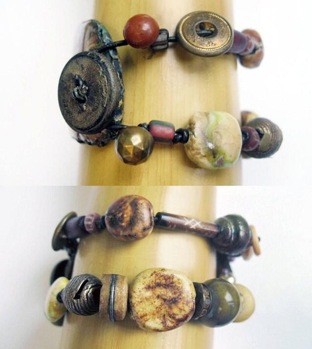 Terrible Truths. Rustic Gypsy Cosmic Alchemy Bracelet.
