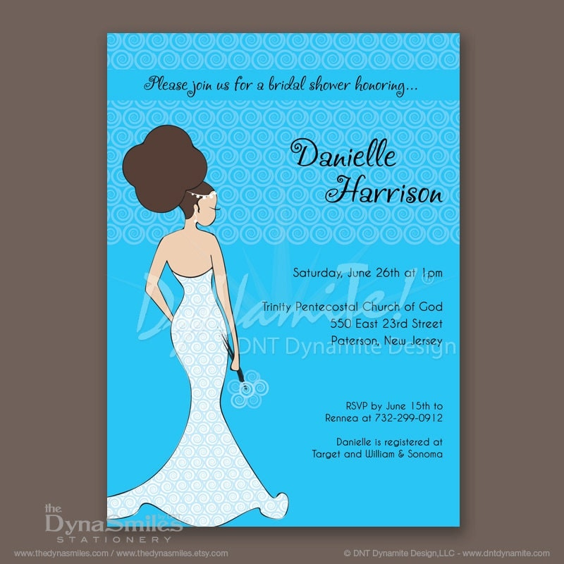 DNT Diva Bride - Bridal Shower Invitation