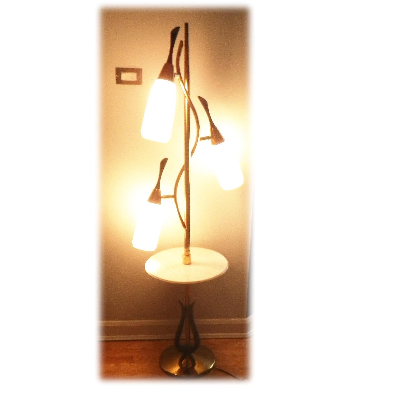 Vintage 60s 3 Light Pole Lamp Mid Century Modern Atomic Hollywood Regency DNA