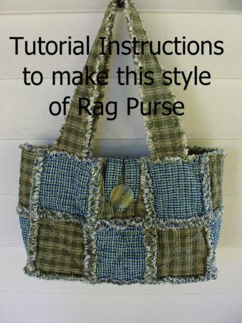 Ashlawnfarms Rag Quilt Purse Pattern Instructions By