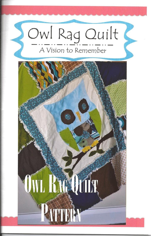 Rag Quilt Owl Pattern : PATTERN RAG QUILT Owl Applique Baby Boy Crib by avisiontoremember