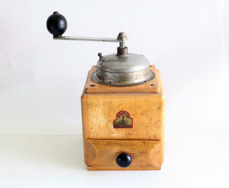 Vintage western germany wood coffee grinder armin by for Mobel trosser