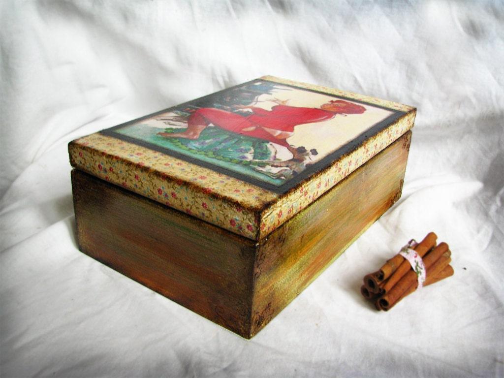 Пакетик деревянный ящик Хильда доставки worldwirde