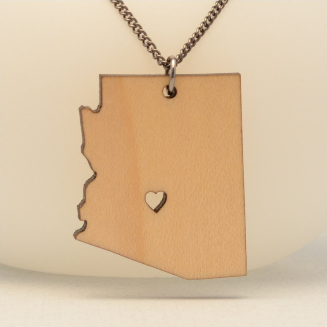 arizona state necklace with wood or by