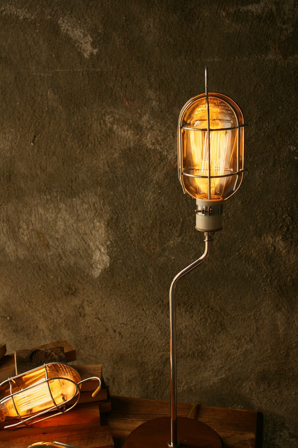 Items Similar To Lamps Industrial Light Wood Lamp
