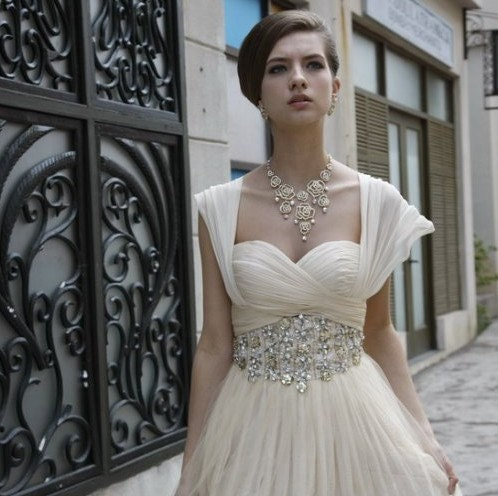 Beautiful high quality CHAMPAGNE  Chiffon tulle gown-Handmade Wedding, Evening and Prom party dress, gown-Make to order, any colors