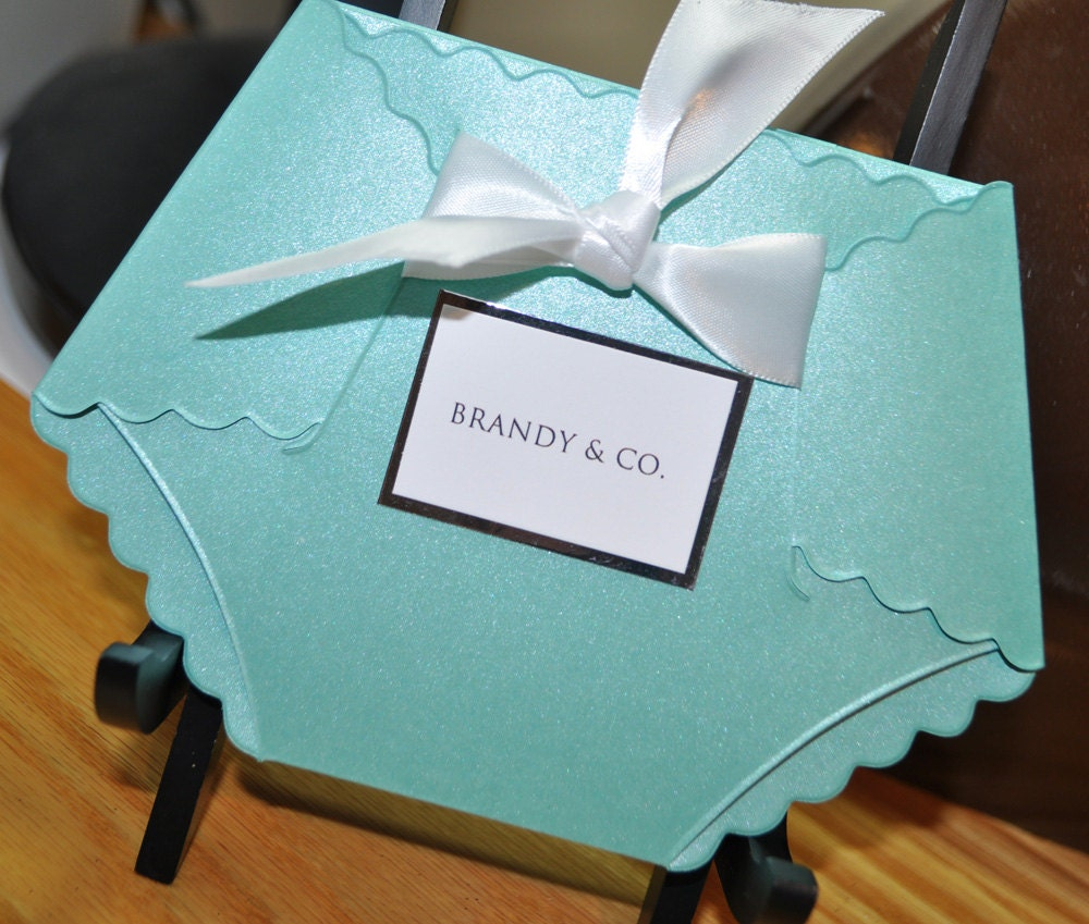 Tiffany Blue Baby Shower Invitations