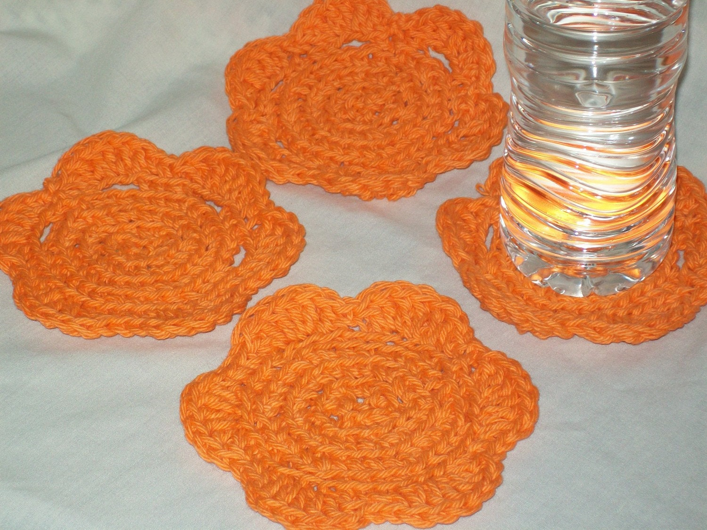Orange coasters  (4 in set)