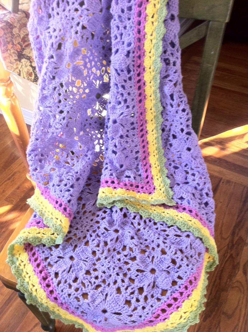 Flower Lacy Blanket