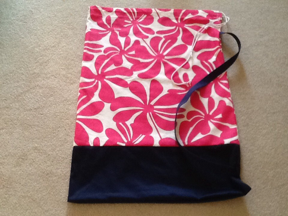 Extra Large Laundry Bag In Floral Hot Pink With By