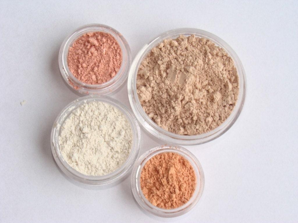 Light foundation set natural mineral makeup