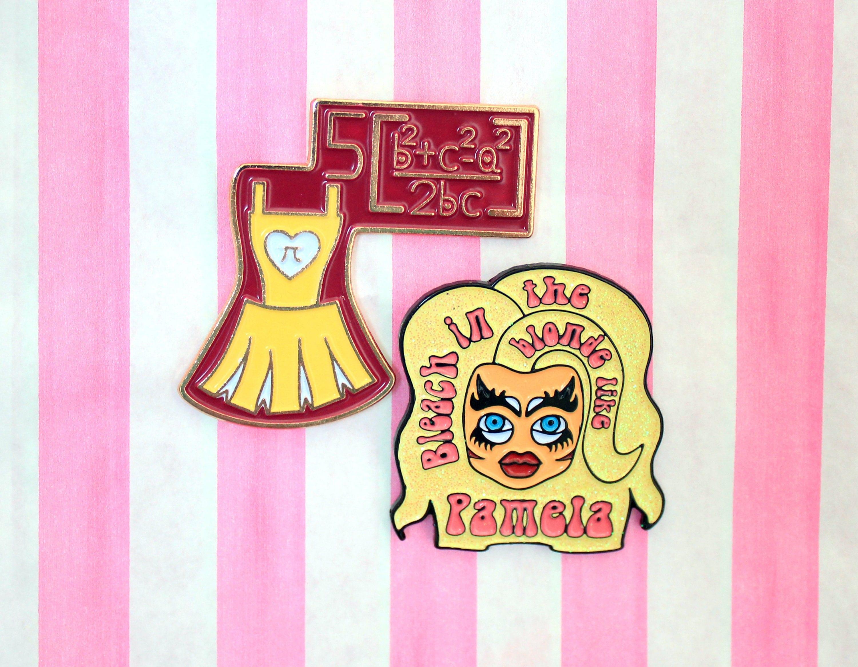 Trixie Mattel inspired soft enamel pin set