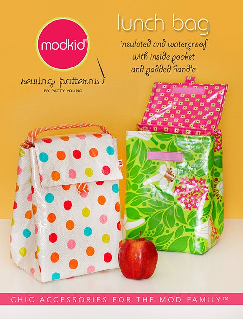 Lunch bag sewing pattern from modkid boutique by