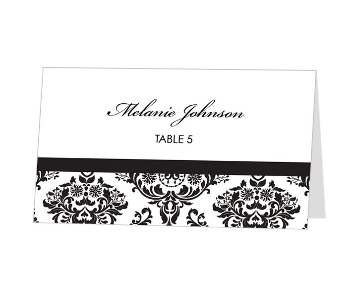 instant download avery place card template damask by 43lucy