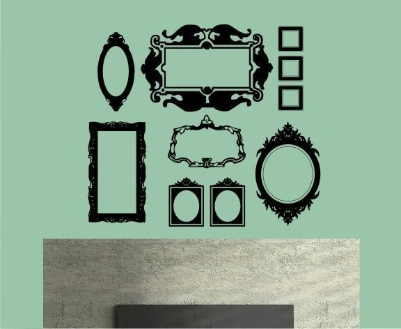 Baroque Picture Frame Collection ( Large) FREE SHIPPING - Vinyl Wall Decals Stickers Art Graphics
