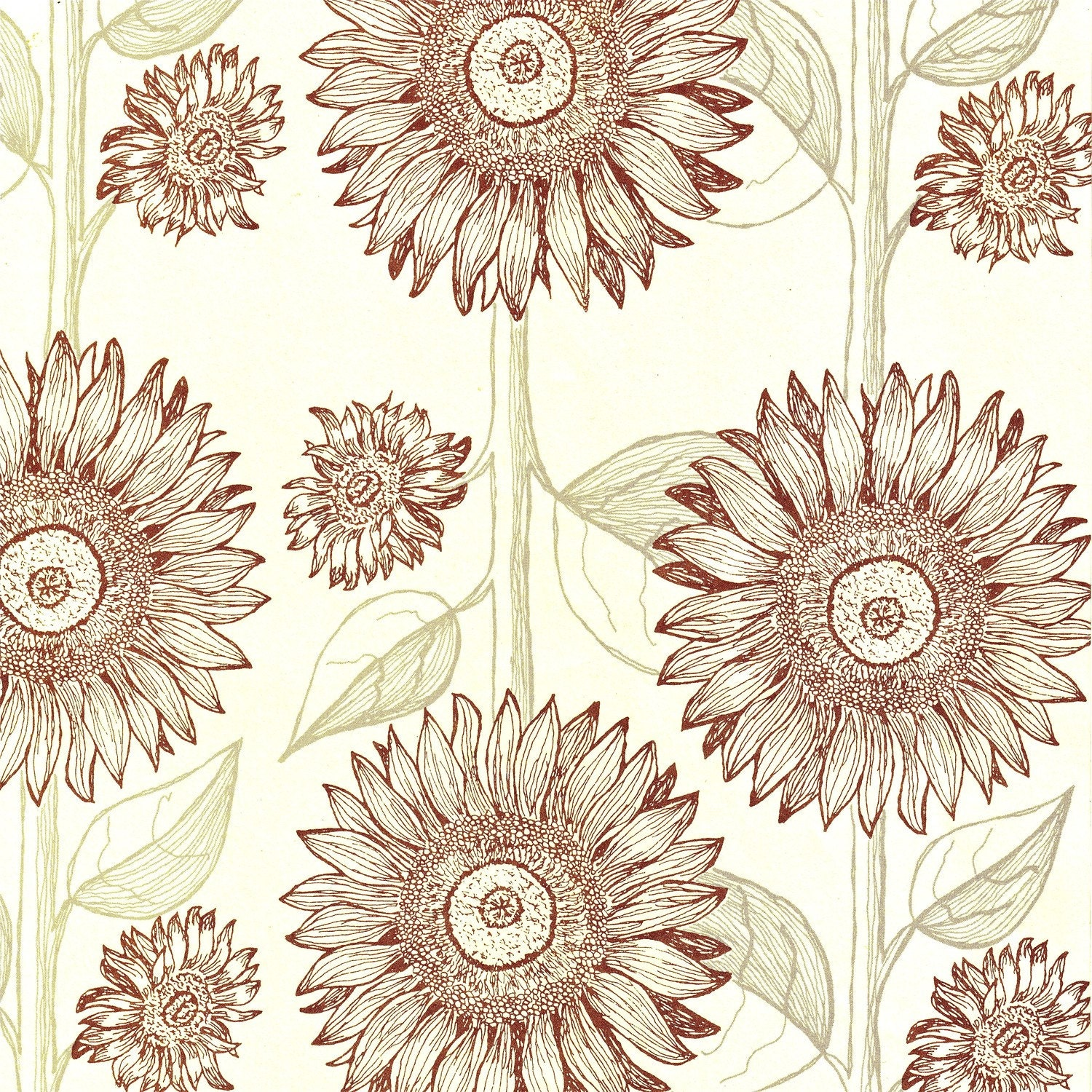12x12 Decorative Papers-Sunflowers Design