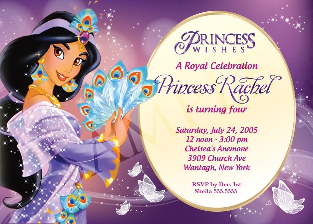 disney princess birthday invitation template .