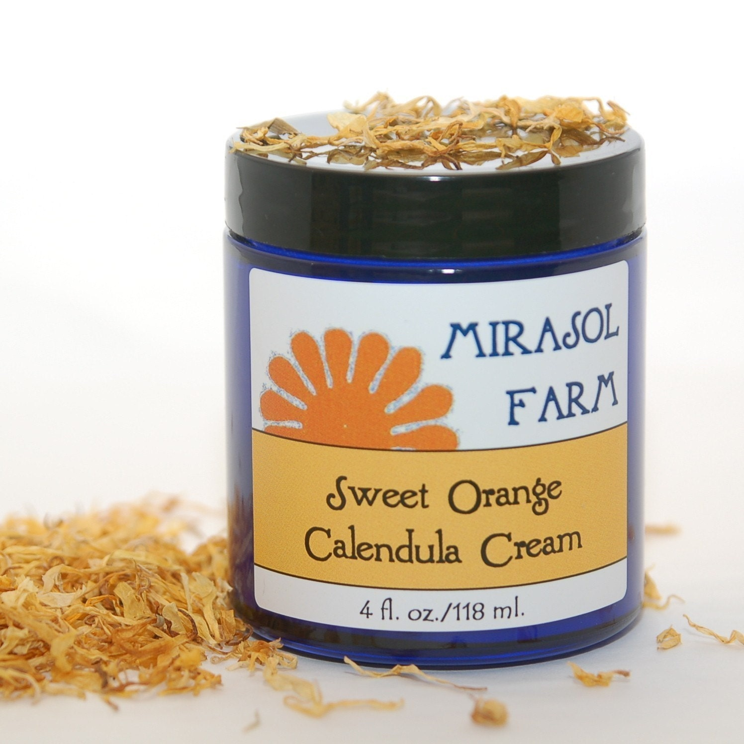 Sweet Orange Calendula Cream with organic oils by MirasolFarm