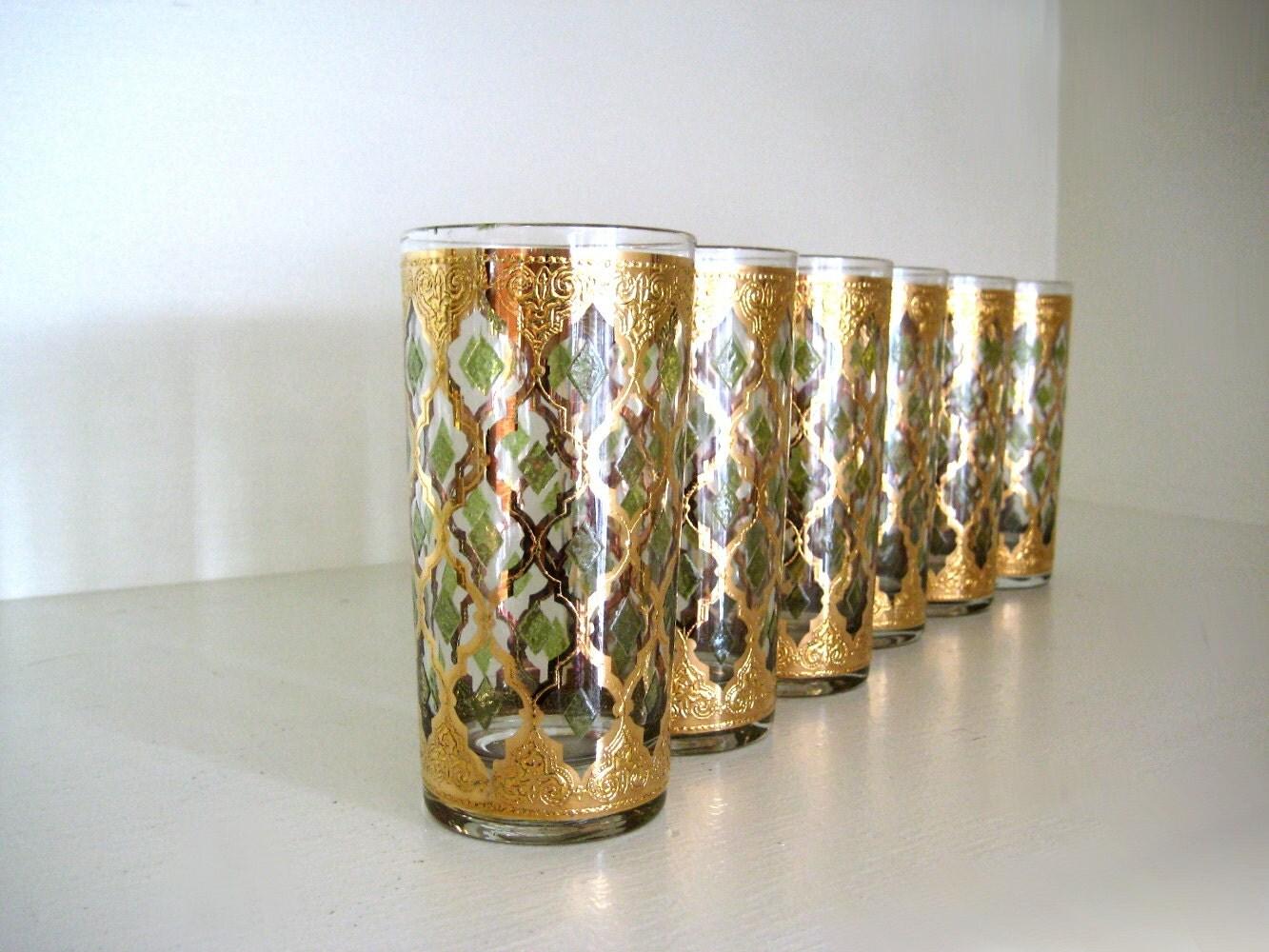 Vintage culver ltd valencia drinking glasses by saltandginger - Vintage valencia ...
