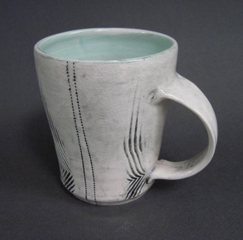 mug with  turquoise glaze (043)