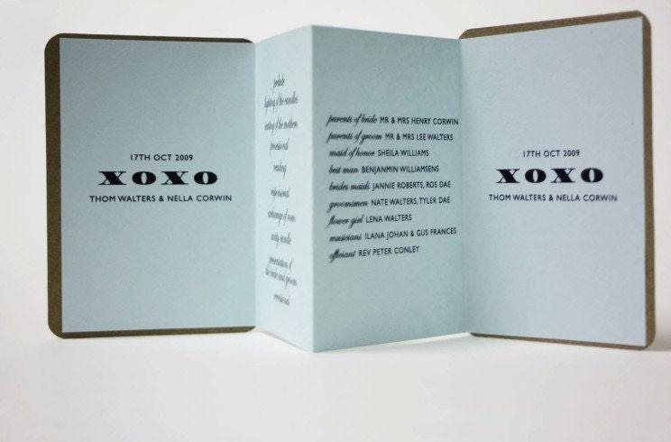 As seen in MARTHA STEWART WEDDINGS Nella Pocket Program
