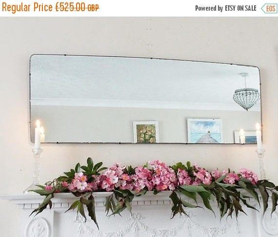SALE Large Modernist Mirror MidCentury Mirror Art Deco mirror frameless mirror Bevelled edge beveled Wide mirror  M224