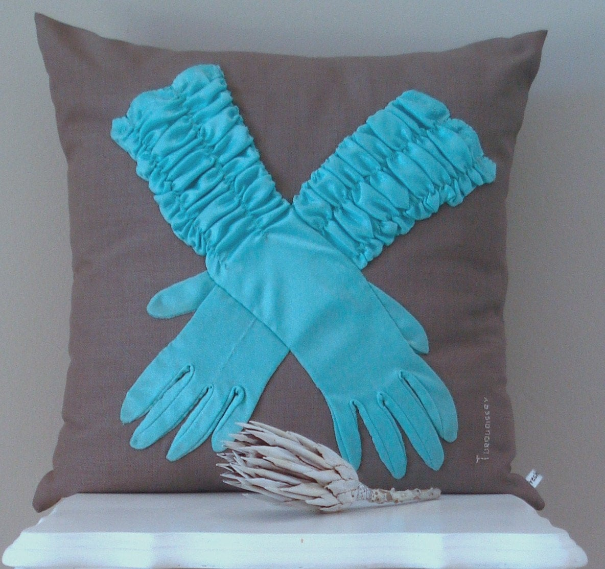 Glove Cushion Cover - Turquoisery