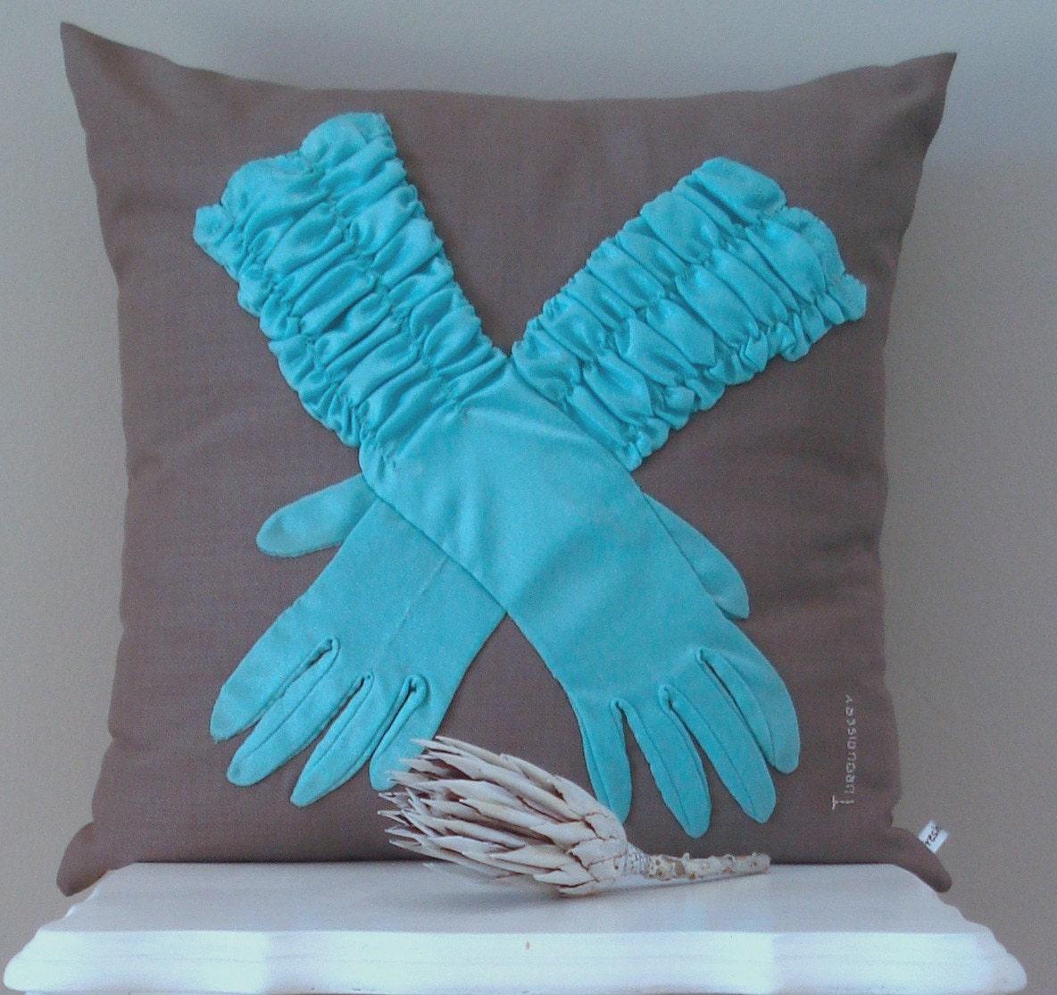 Glove Cushion Cover - Turquoisery