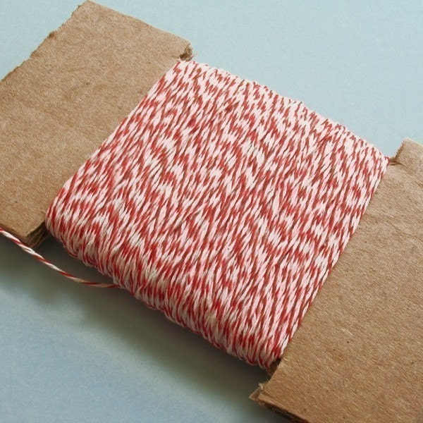 Baker's red and white twine - 50 yards