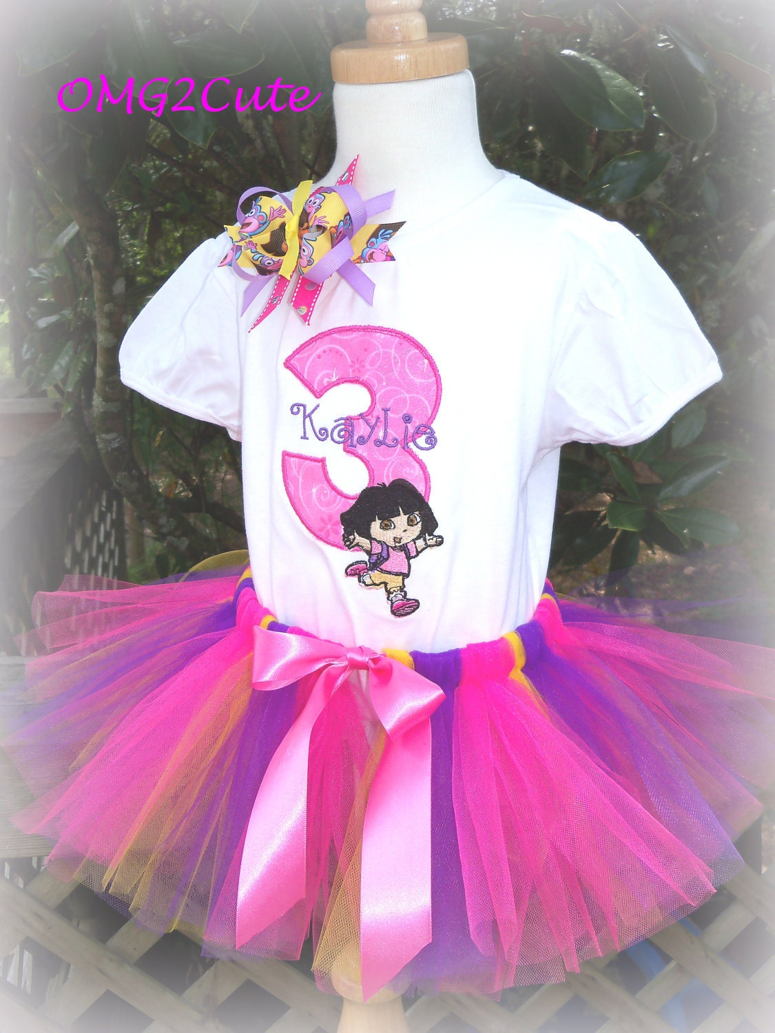 Dora the Explorer Birthday Outfit includes shirt Tutu by