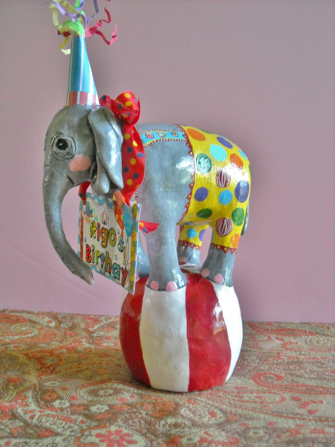 Items similar to Baby Circus elephant cake topper or table ...