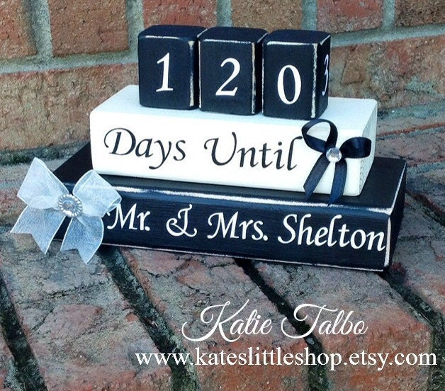 Countdown Custom Wedding Countdown Days Until By Kateslittleshop