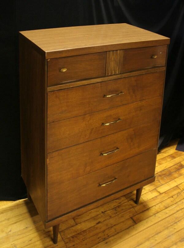 Vintage Mid Century Bassett Furniture Co High By Scrantonattic