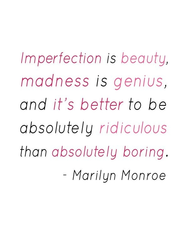 (Imperfection is Beauty Marilyn Monroe Quote by 3LambsGraphics). Beauty