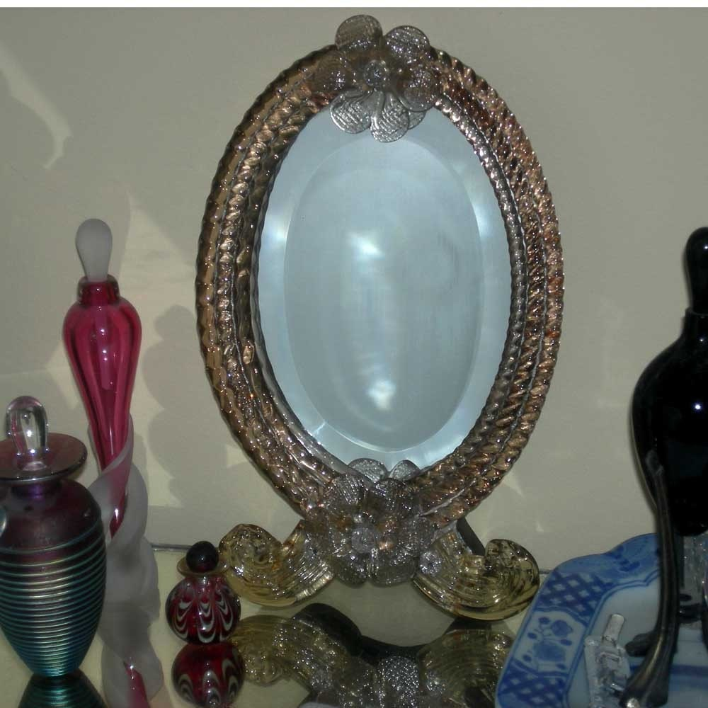 Venetian Glass Vanity Mirror Early 1900's by Vintageartshome