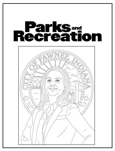 Parks And Recreation Coloring Book Instant Printable