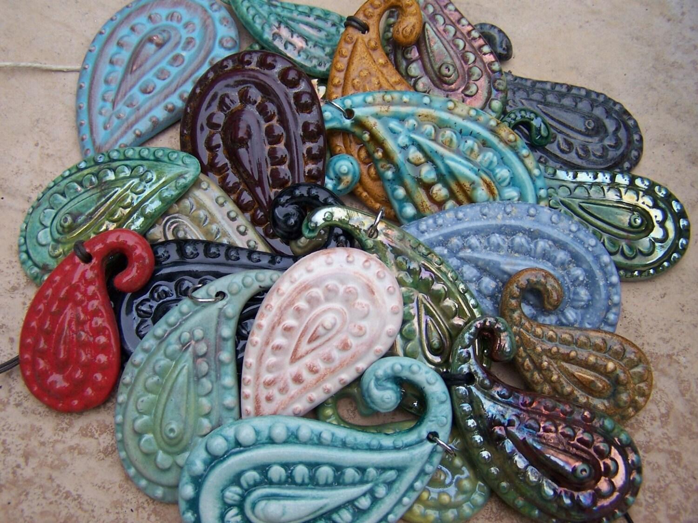 handmade paisley pendant