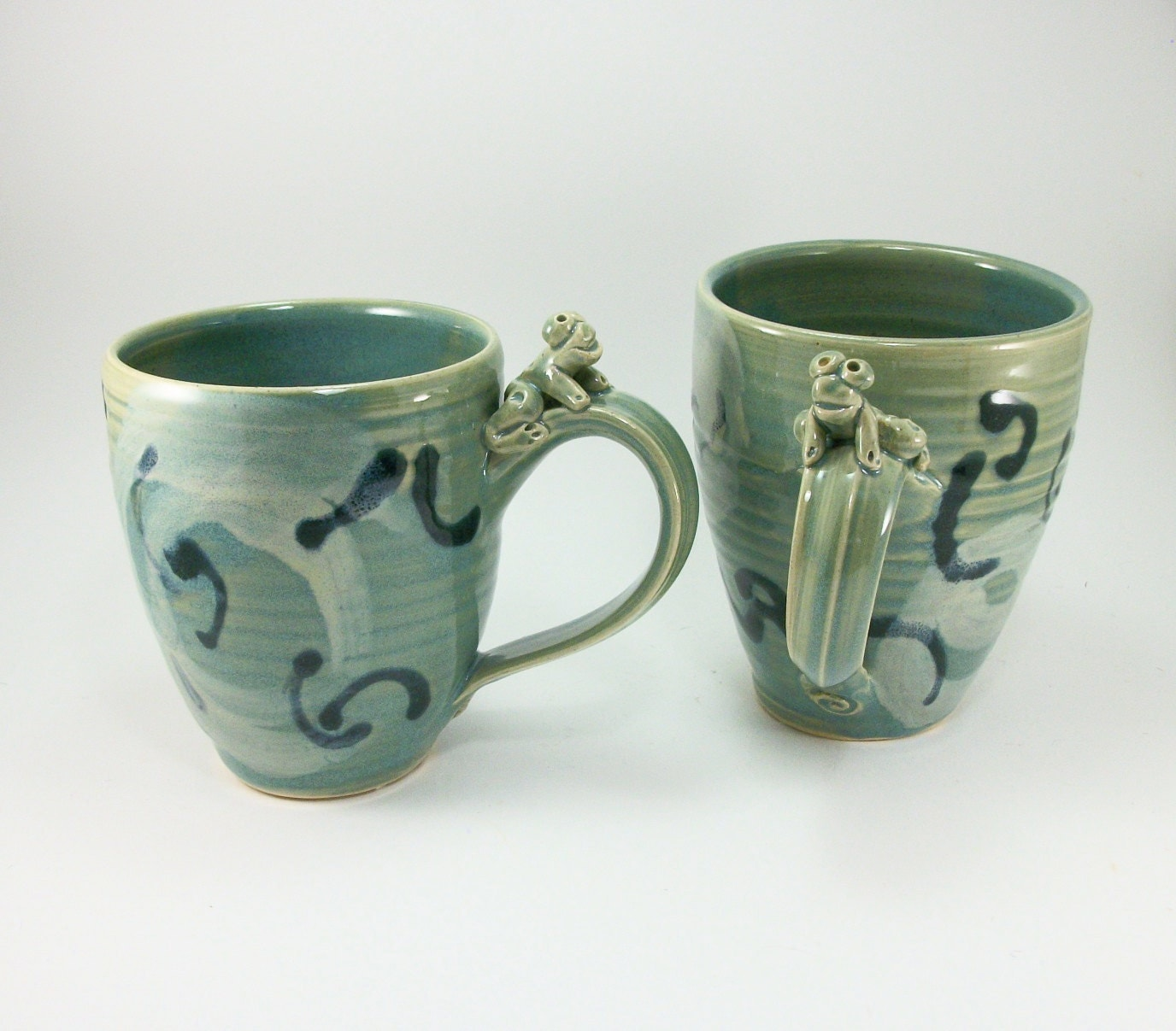 fantastic deal on a pair of frog mugs