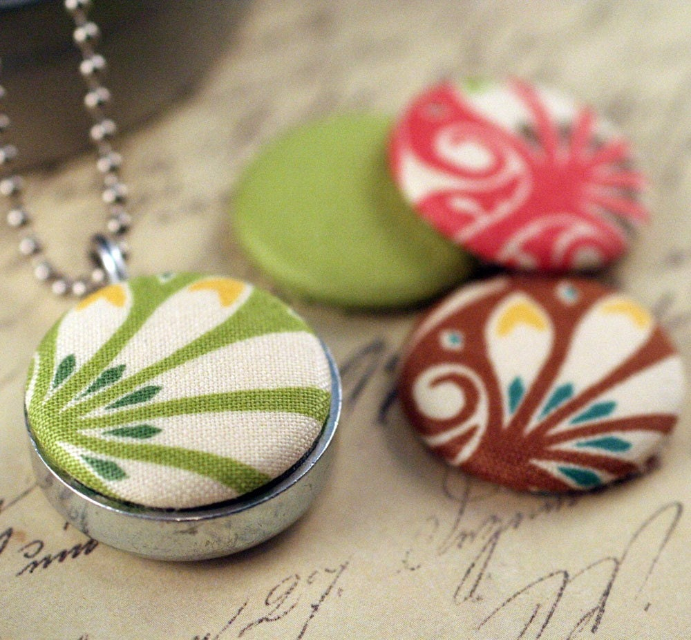 Mini Fabric Magnetic LOCKET Recycled and Interchangeable by Polarity