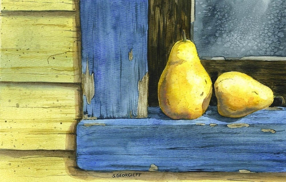 Pears on a Window Ledge
