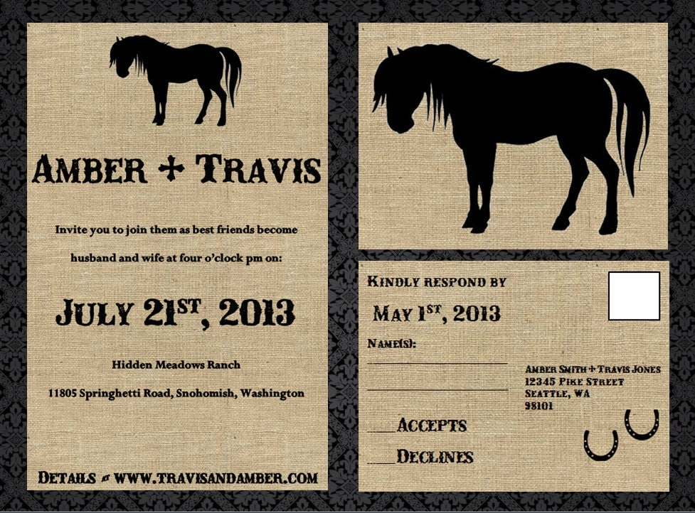 Western Wedding Invitation - Printable