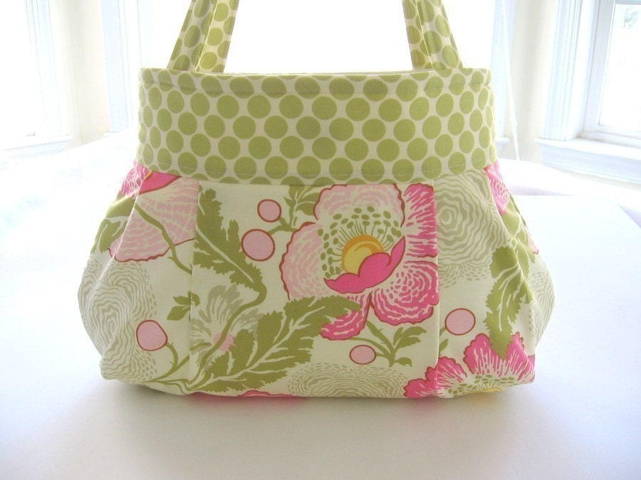 Poppies Pleated Bag