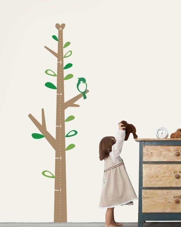 Kids Growth  Chart Tree - Children's Vinyl Wall Sticker