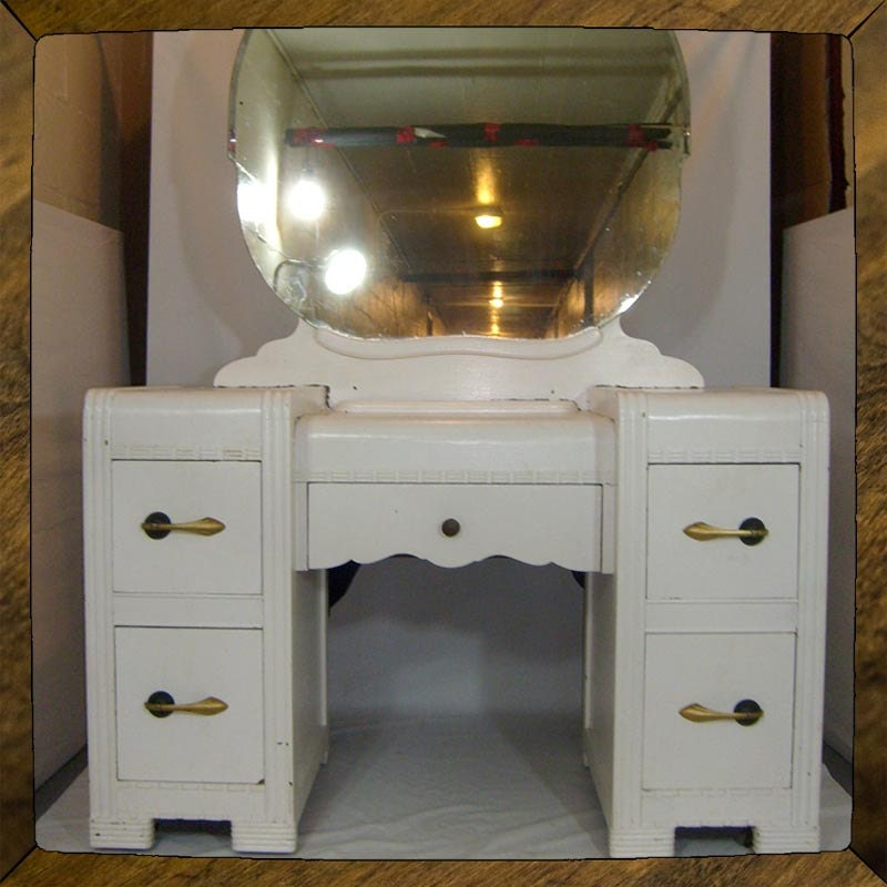 Items Similar To Art Deco Vanity Makeup Table TO REFURB Vintage Chest Of
