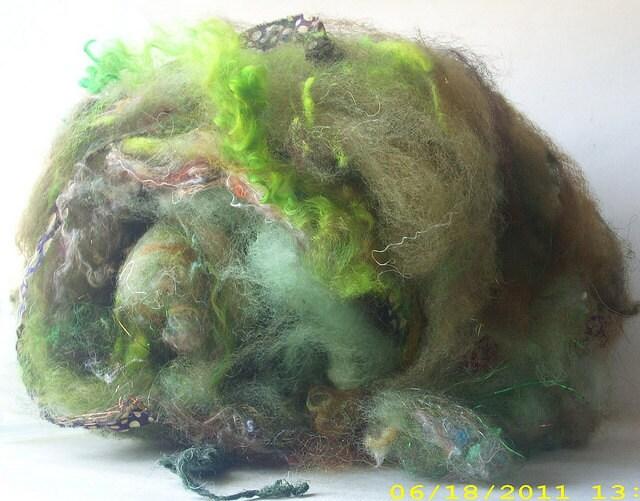 Live Oak Batty Babe Batts Hand Dyed Hand Washed Wool Spinning Felting Doll Hair Locks Art Batt